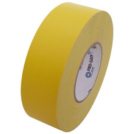- Pro Gaff Gaffers Tape 1 and 2 inch widths, 17 colors available, 2 inch, Yellow