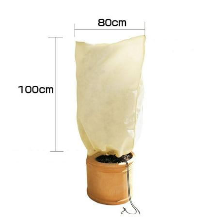 Outdoor Garden Plant Protective Bag Winter Plant Protector Frostproof Bag Nonwoven Plant Cover Nursery Bag - image 2 de 7
