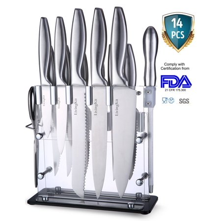LivingKit Farberware Kitchen Knife Cutlery Set-14 Piece Steak Knives set