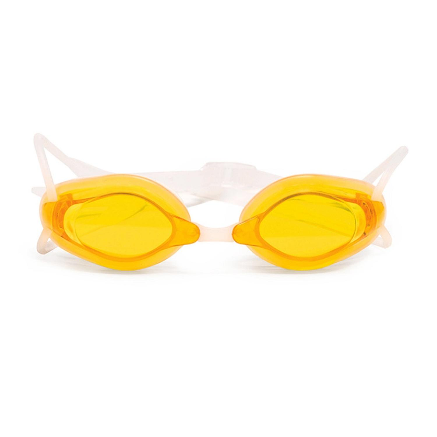 """5.5"""" Yellow and Clear Pro Swim Goggles Swimming Pool Accessory for Children by Pool Central"""