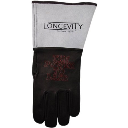 Longevity Welding Armor Large Black and Gray Leather TIG Welding Gloves
