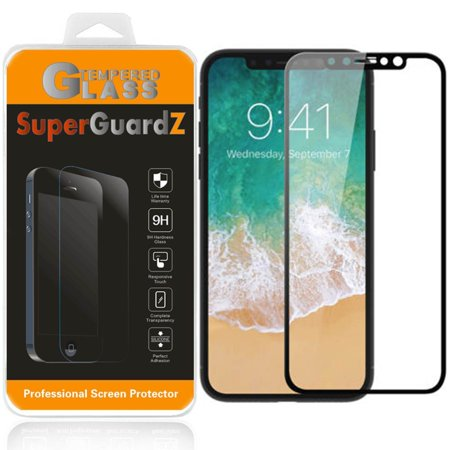 2 Year Screen ([2-Pack] iPhone X / iPhone 10 Year Edition SuperGuardZ Tempered Glass Screen Protector [Full Coverage, Edge-To-Edge Protection], Anti-Scratch, Anti-Shock [Black] )