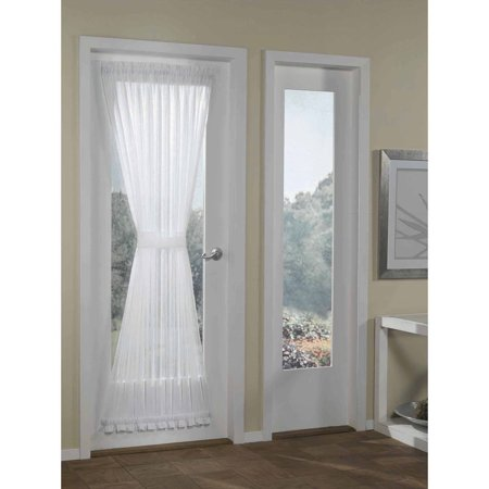 gardens crushed voile door curtain panel white 51x72