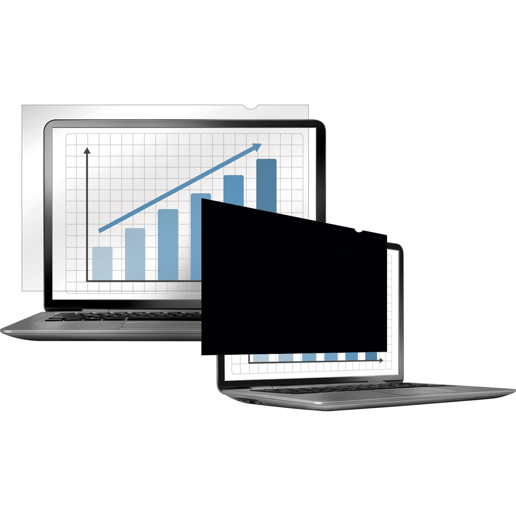 Fellowes, FEL4800101, Laptop/Flat Panel Privacy Filter, 1, Black