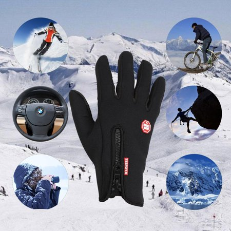 Touchscreen Warm Gloves  Anti Slip Water Proof Wind Proof Driving Gloves With Fleece Inner Lining For Winter Outdoor Sports Running Motorcycle Cycling  Fits Men And Women Msarts