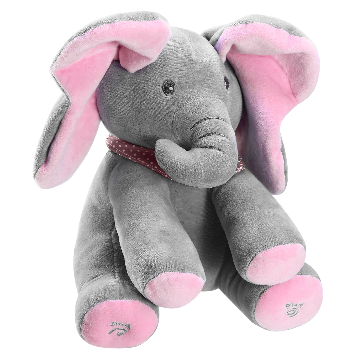 Elephant Stuffed Doll Toys Kids Gift Animated Talking Singing Plush