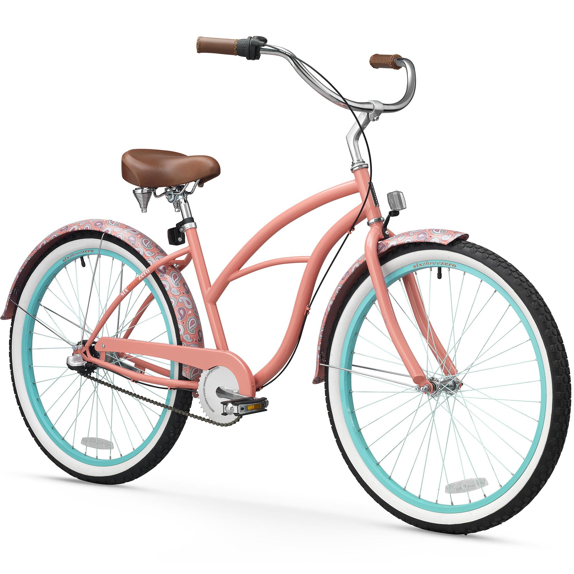 """sixthreezero 26"""" Women's Paisley Beach Cruiser Bicycle, 1, 3 and 7 Speed"""