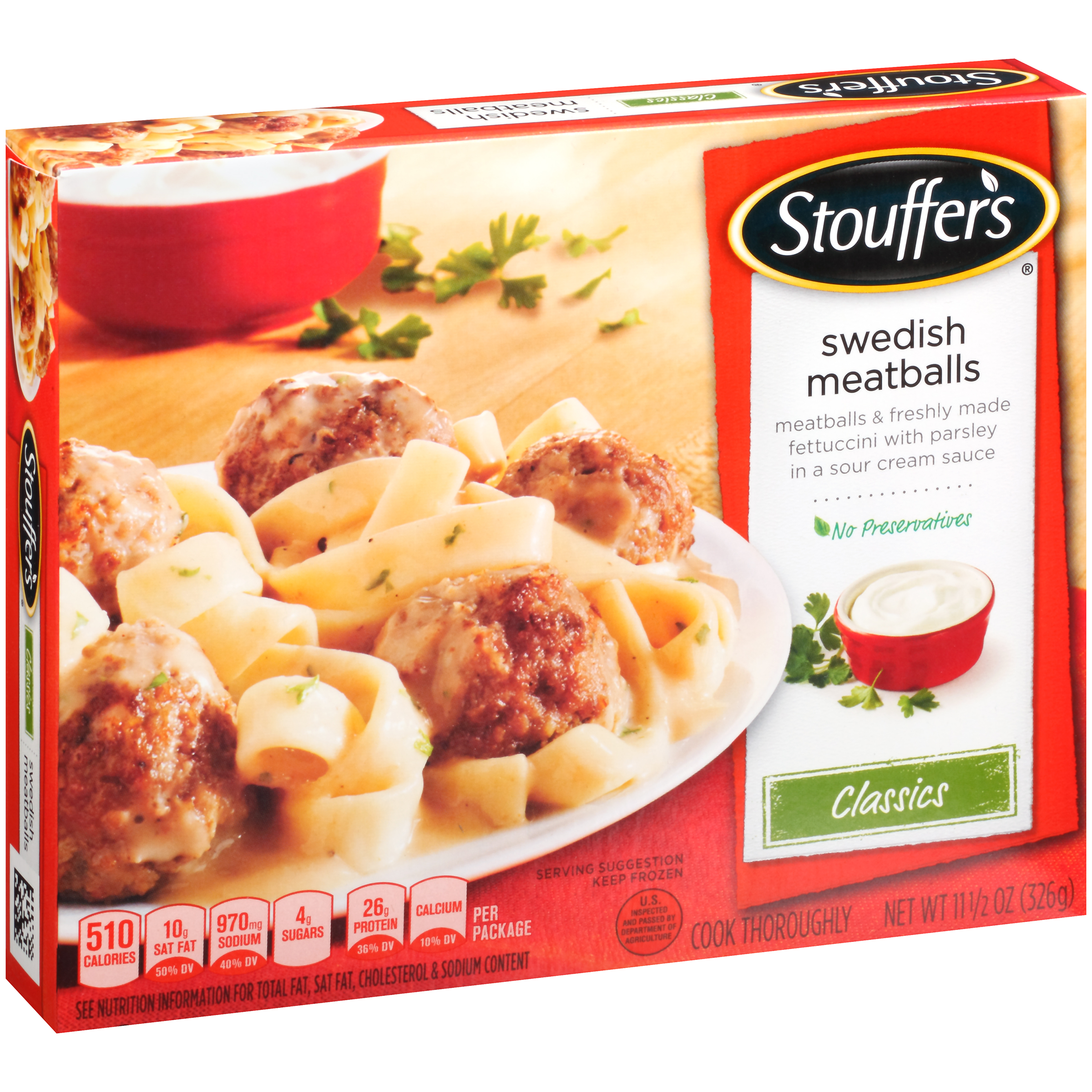 STOUFFER'S Classics Swedish Meatballs 11.5 oz. Box