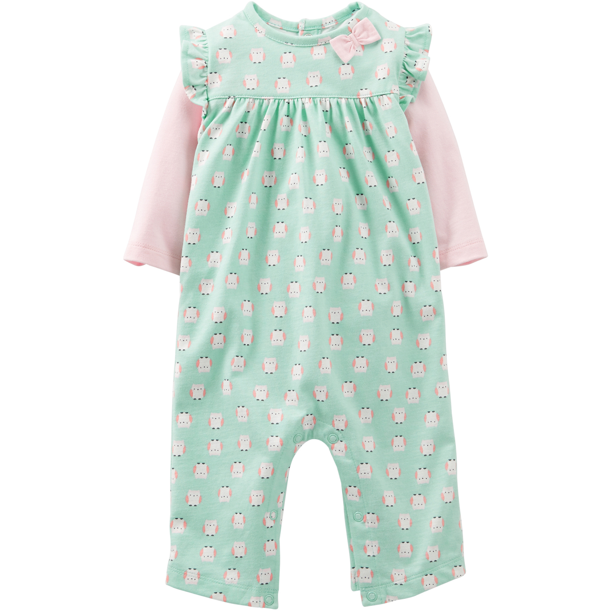 Child of Mine by Carter's Newborn Girl Cotton Jumpsuit