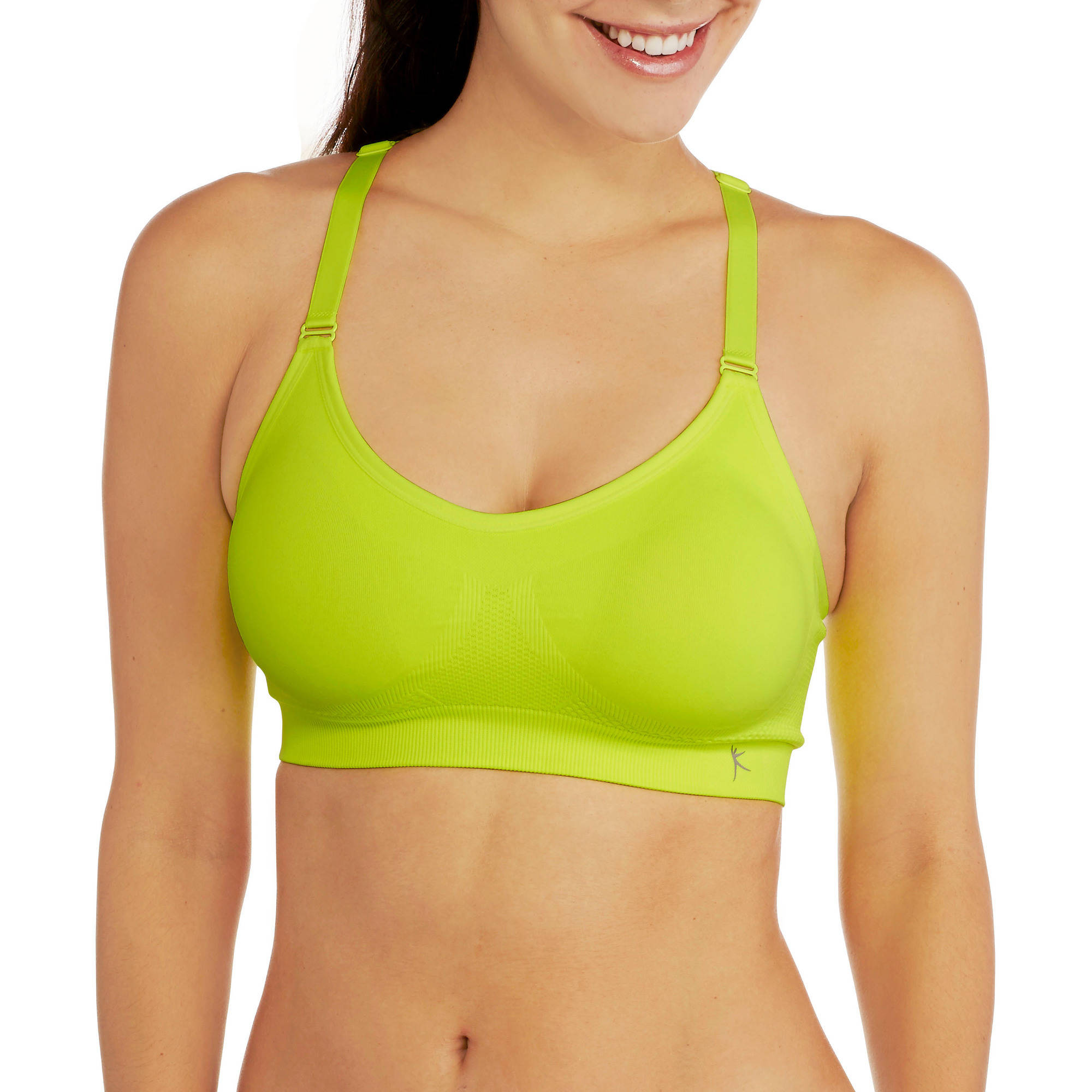 Danskin Now Women's Active Seamless Mesh Back Cami Bra