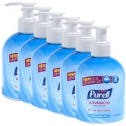 PURELL Advanced Refreshing Gel Hand Sanitizer, 8 fl oz, Pack of 6