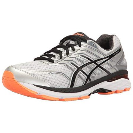 Asics Men's Gt-2000 5 Silver / Black Hot Orange Ankle-High Running Shoe -