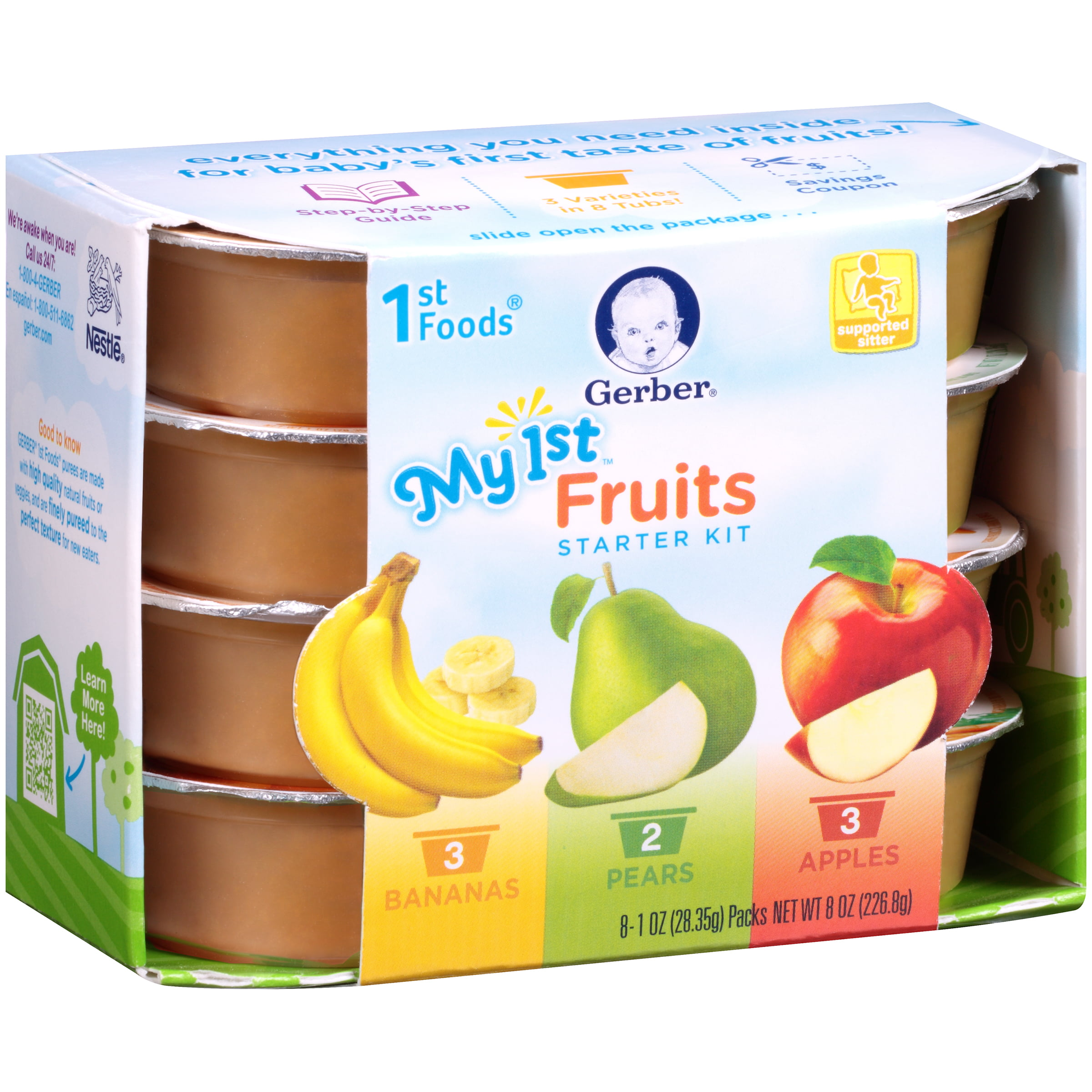 Gerber 1st Foods My Fruit Starter Kit 1 Ounce Each 8 Count