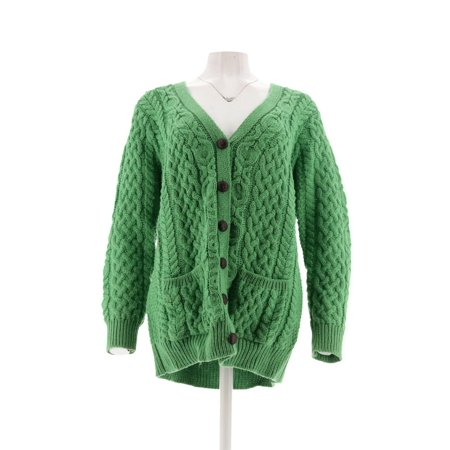 Aran Craft Merino Wool V-Neck Button Front Cardigan A251983
