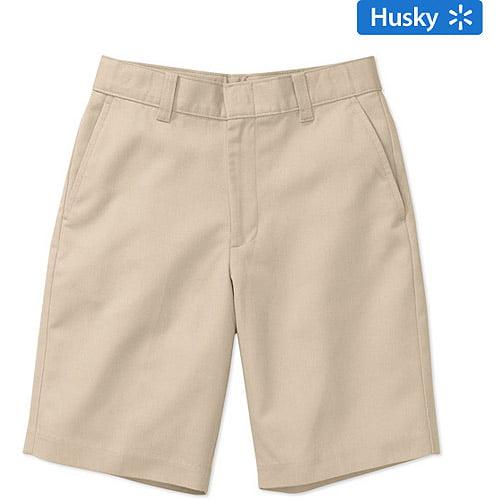 George Boys School Uniforms Husky Size Flat Front Shorts
