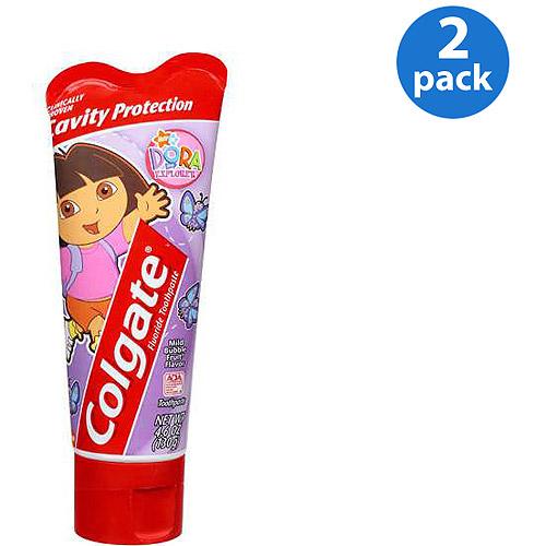 Colgate Dora The Explorer Fluoride Toothpaste 4.6 oz (Pack of 2)