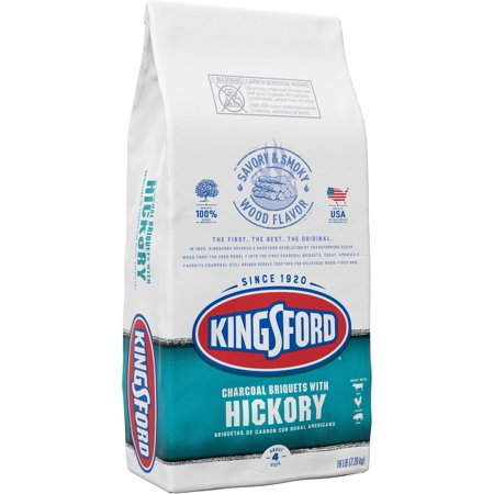 Kingsford Original Charcoal Briquettes With Hickory, Bbq Charcoal For Grilling - 16 Pounds