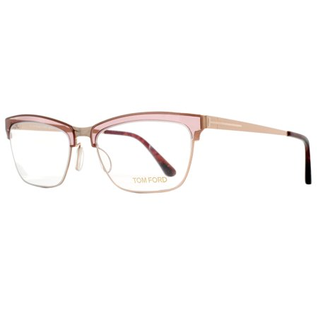 Tom Ford TF 5392 050 54mm Rose Gold Pink Cat Eye Eyeglasses - Beer Eyeglasses