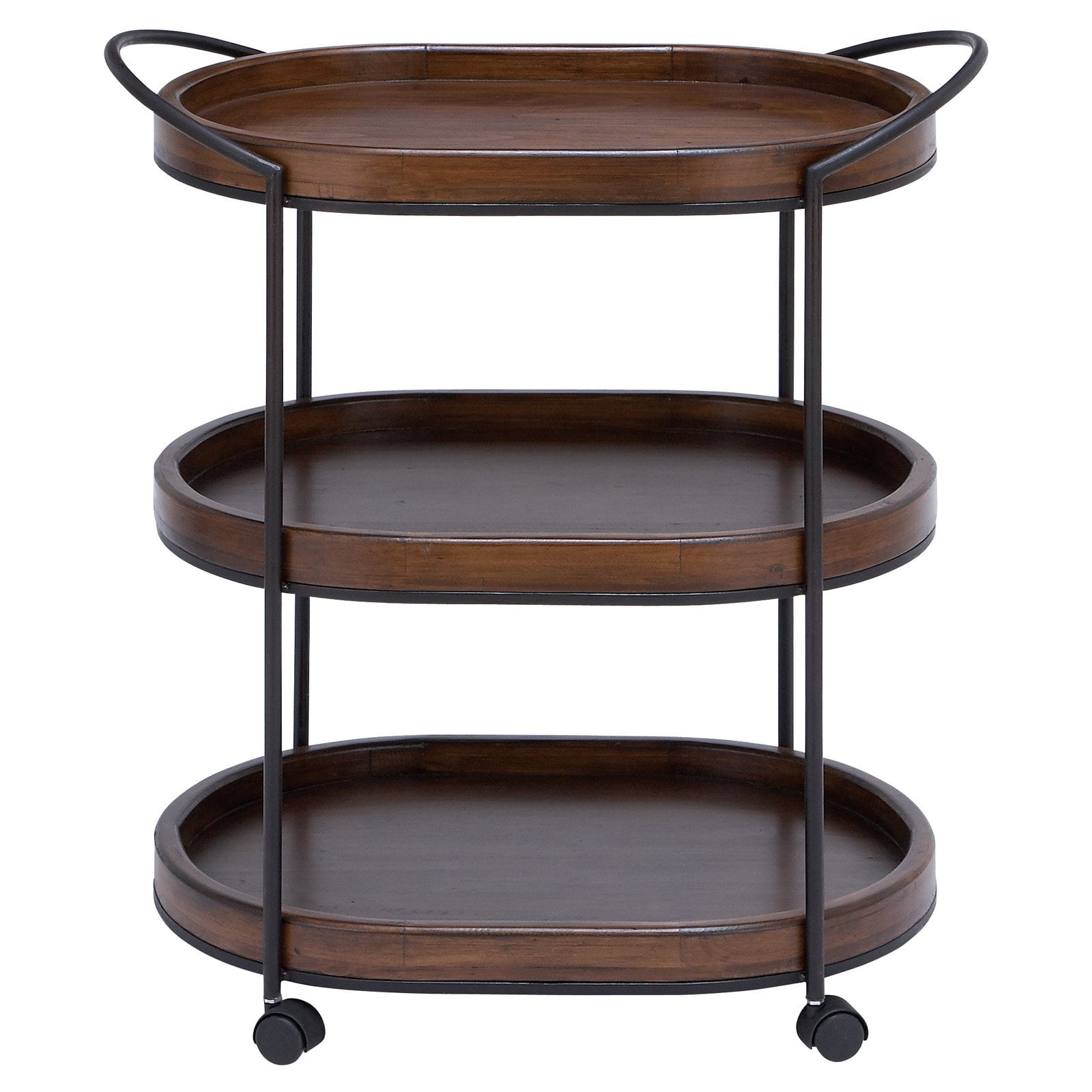 DecMode 3-Tiered Wood Serving Cart by DecoMode Collection