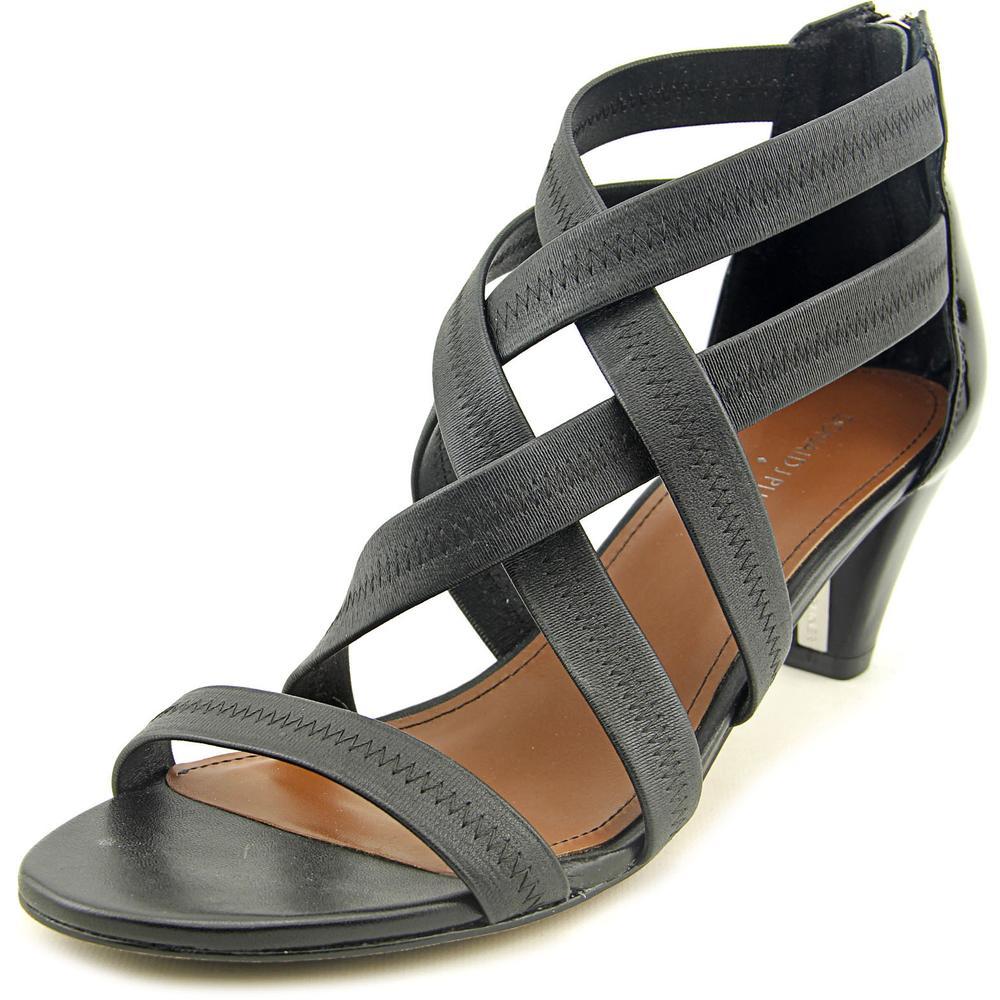 Donald J Pliner Vida Women Open Toe Suede Black Sandals by Donald J Pliner