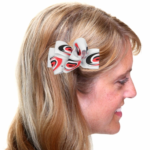 Carolina Hurricanes Women's Butterfly Hair Clip - White - No Size