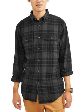 34f39d1e Product Image George Men's and Big & Tall Long Sleeve Flannel Shirt, up to  size 3XLT