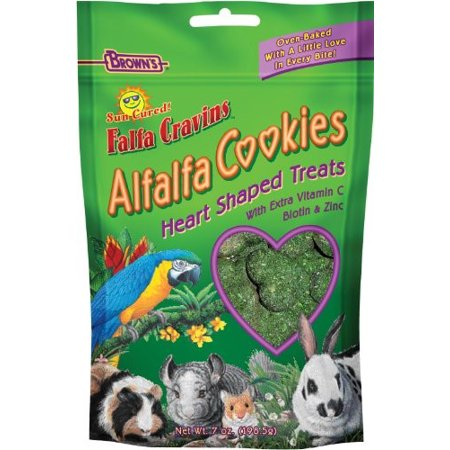 FM Brown's Falfa Cravins Heart-Shaped Small Animal Treat, 7 Oz