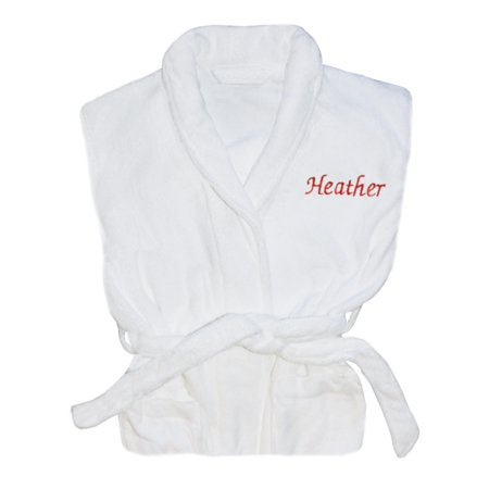 Personalized Plush Robe, Available in 2 fonts and 2 thread Colors! ()