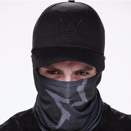 Watch Dogs Aiden Pearce Black Half Mask Face Costume Cosplay Neck Watchdogs Game - Black Face Mask Costume