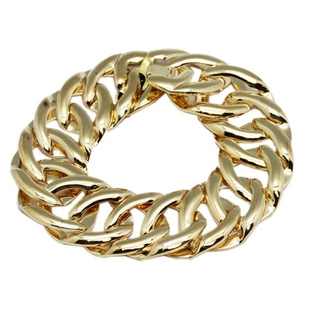 Loosely Linked Hoops Gold Colored Fashion Bracelet