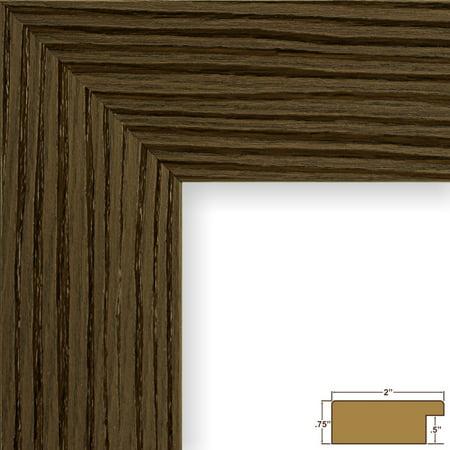 Craig Frames Bauhaus 200, Modern Brown Oak Picture Frame, 20x24 Inch ...