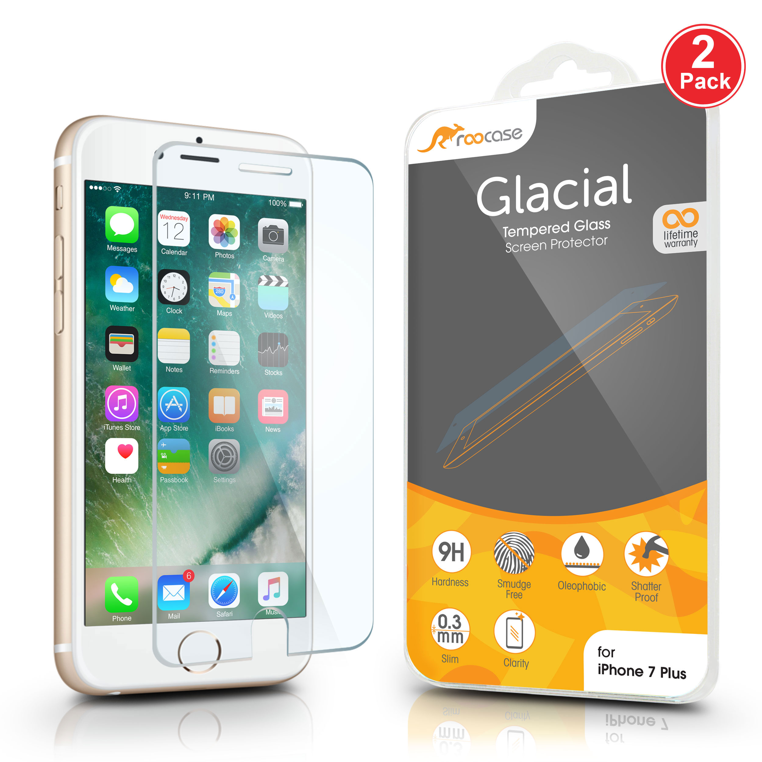 olixar iphone 7 plus screen protector 2 in 1 pack today