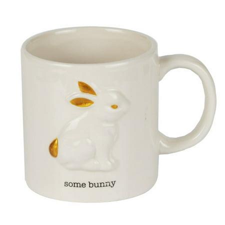 "Image of American Atelier Animal Kingdom White Rabbit 20 oz Mug - ""Some Bunny"""