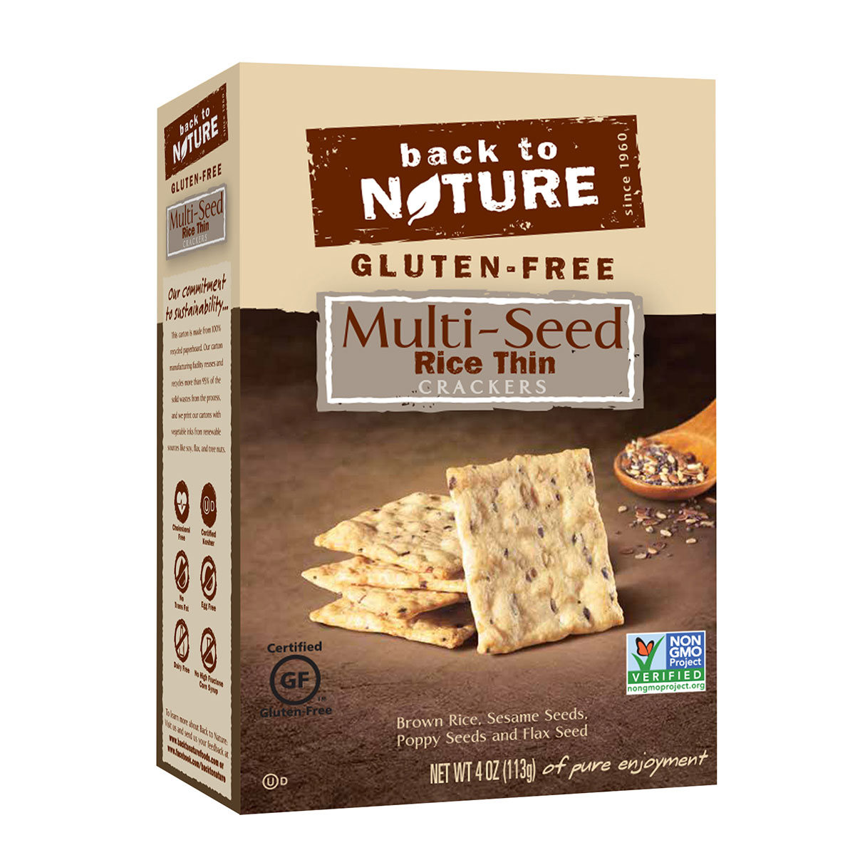 Back to Nature Foods Back To Nature Gluten Free Rice Thin Crackers, Multi - Seed, 4 Oz