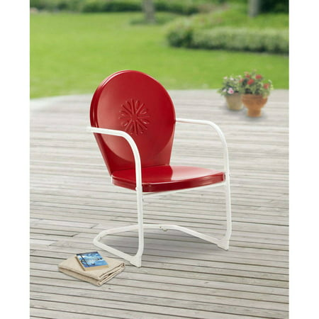 Mainstays Retro C Spring Outdoor Red Rocking Chair