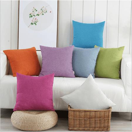 Sofa Cushion Cover,Ymiko Solid Color Cotton Canvas Cushion Cover Home Decor Throw Pillow Case Lounge,Throw Pillow Cover ()