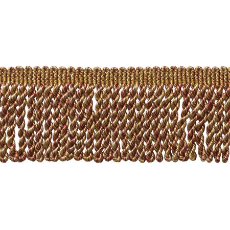 2.5 Inch Bullion Fringe Trim, Style# EF25 Color: Burgundy / Wine Gold - 8539 Sold By the -