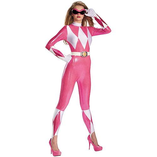 Pink Ranger Sassy Bodysuit Adult Halloween Costume