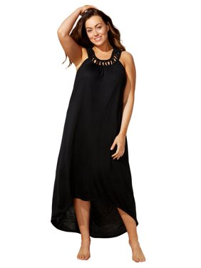 Swimsuits For All Women's Plus Size High Low Dress Swimsuit Cover Up