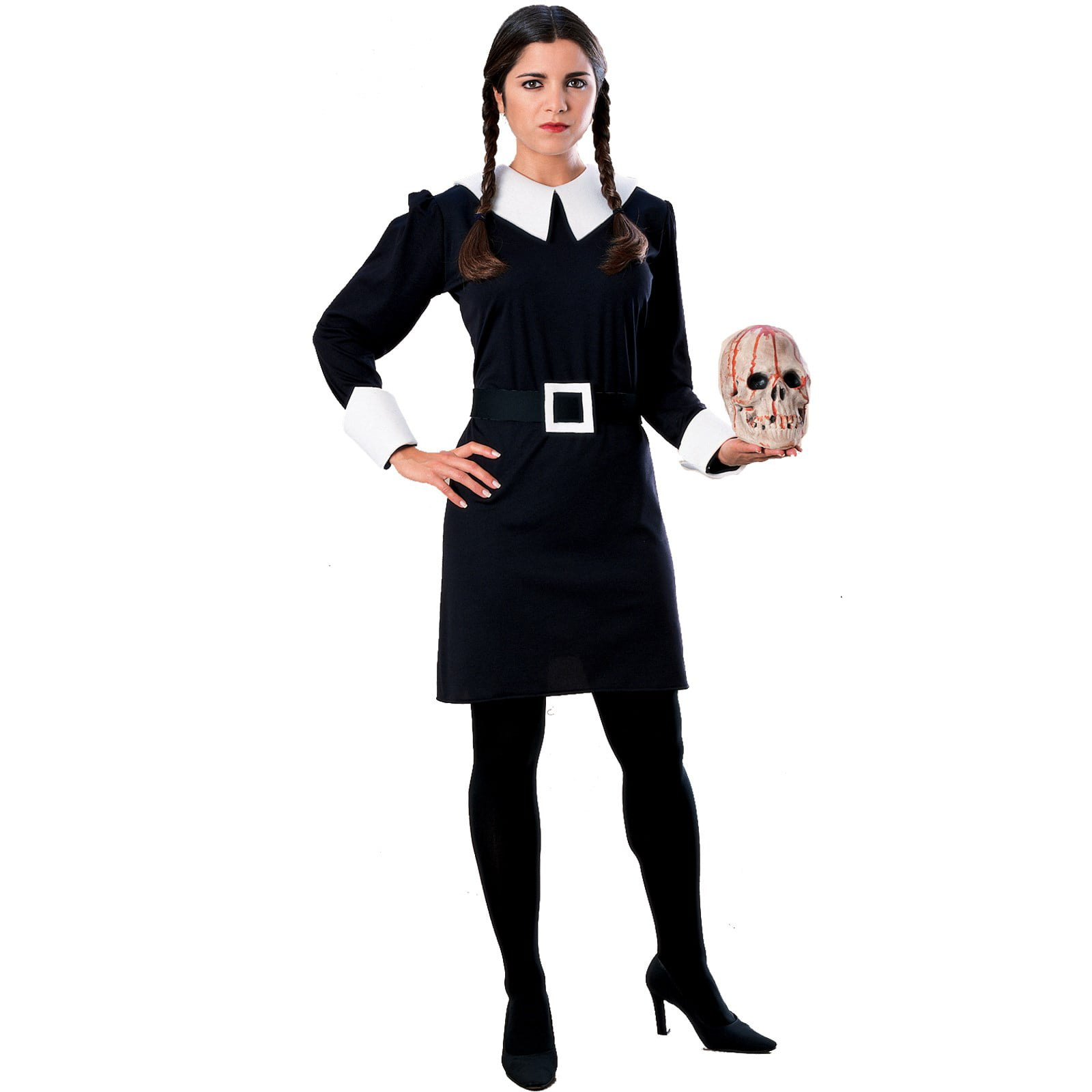 4pc Pugsley Addams Wednesday Fancy Dress Set Ladies Halloween Brother Kit Adult