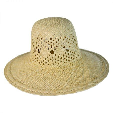Kong Natural Straw - Mini Panama Straw Sun Hat - ONE SIZE - Natural