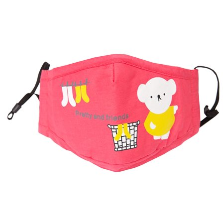 Cotton PM2.5 Anti-smog Activated Carbon Mask Children Masks Bear Pink (Emergency Costumes)