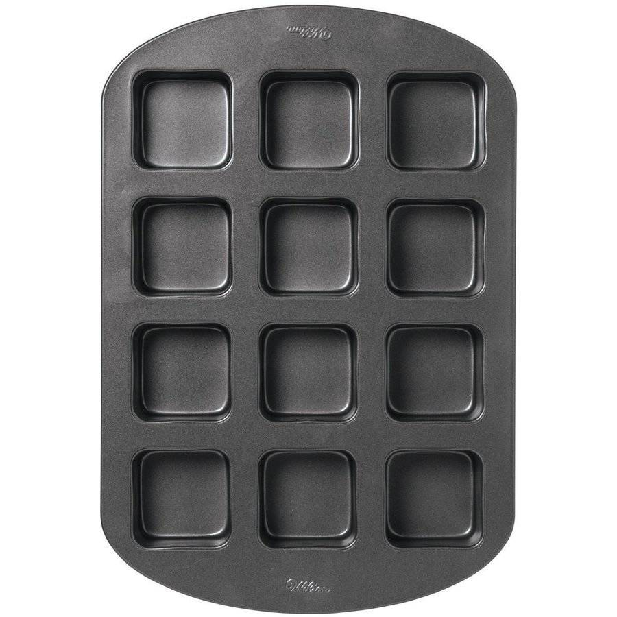 Wilton 12-Cavity Nonstick Treat Cake Pan, Square 2105-0693