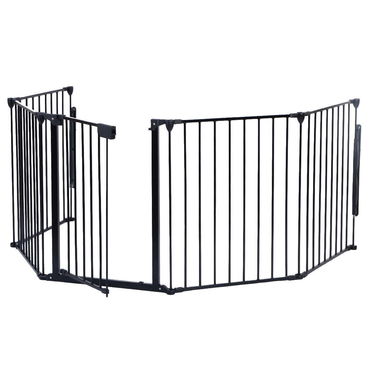 costway new fireplace fence baby safety fence hearth gate bbq metal fire gate pet dog cat walmartcom