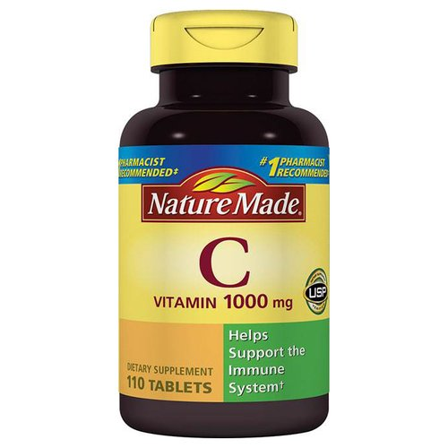 Nature Made Vitamin C Dietary Supplement Tablets, 1000mg, 110 count