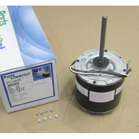 Air Conditioner Condenser Fan Motor Totally Enclosed (TENV) 1/3 HP 230 Volts 825 RPM Ball Bearing Single Speed PC-3405 230v Condenser Fan Motor
