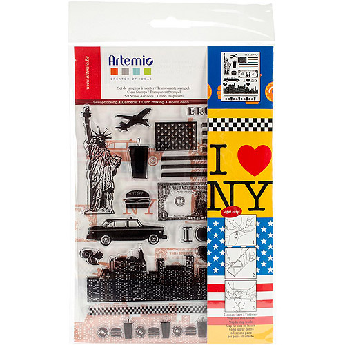 "Artemio Clear Stamps, 5.9"" x 8.7"", New York"