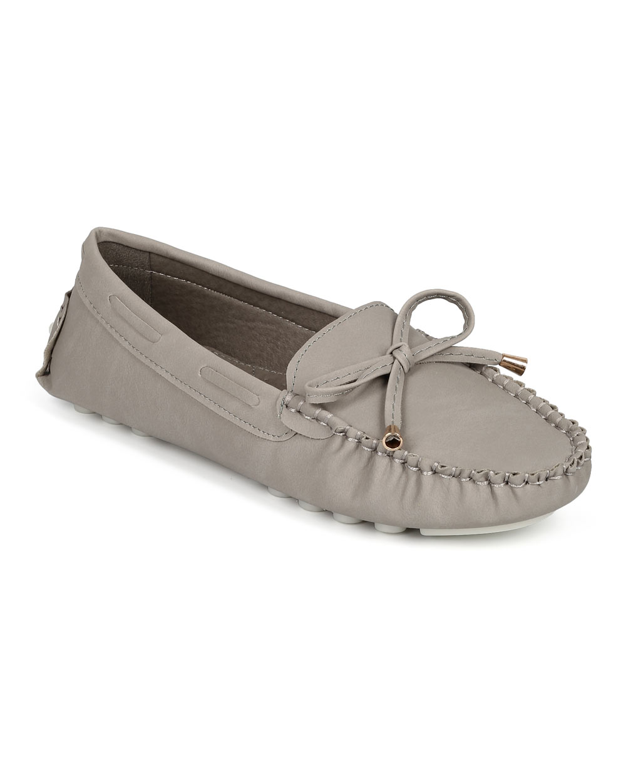 Misbehave CF74 Women Leatherette Bow Tassel Slip On Moccasin Flat