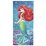 Disney Little Mermaid Ariel Splash 100% Cotton 28 X 58 Plush Beach Bath Towel](Little Mermaid Towel)