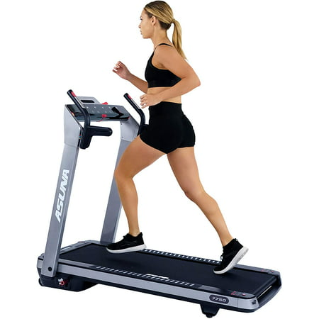 Sunny Health & Fitness Asuna SpaceFlex Motorized Running Treadmill with Auto Incline, Wide Treadmill, Space Saving Folding and Walking Treadmill